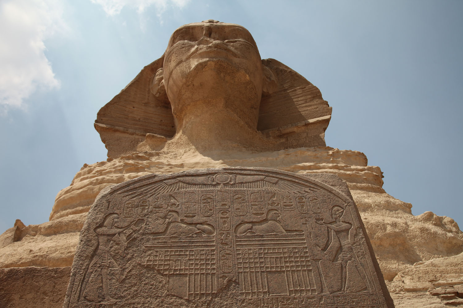 Sphinx with Dream stele
